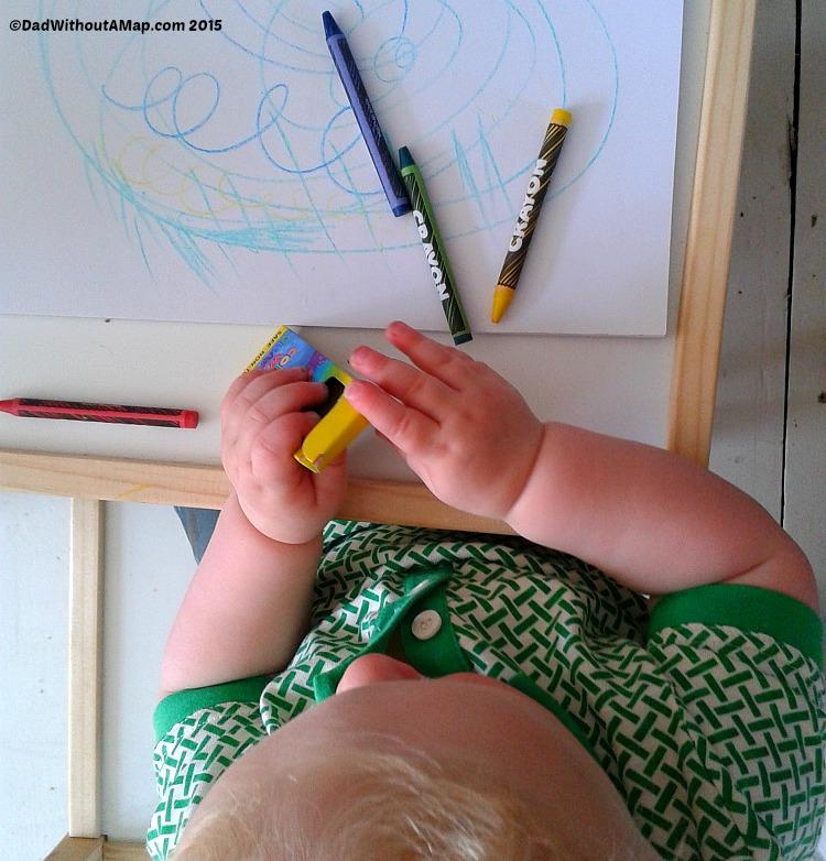 B and crayons