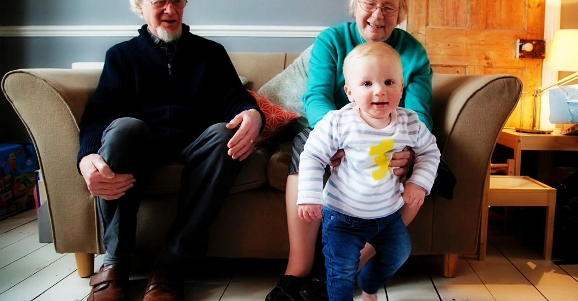 baby, grandparents