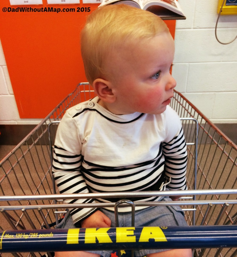 IKEA baby in trolley