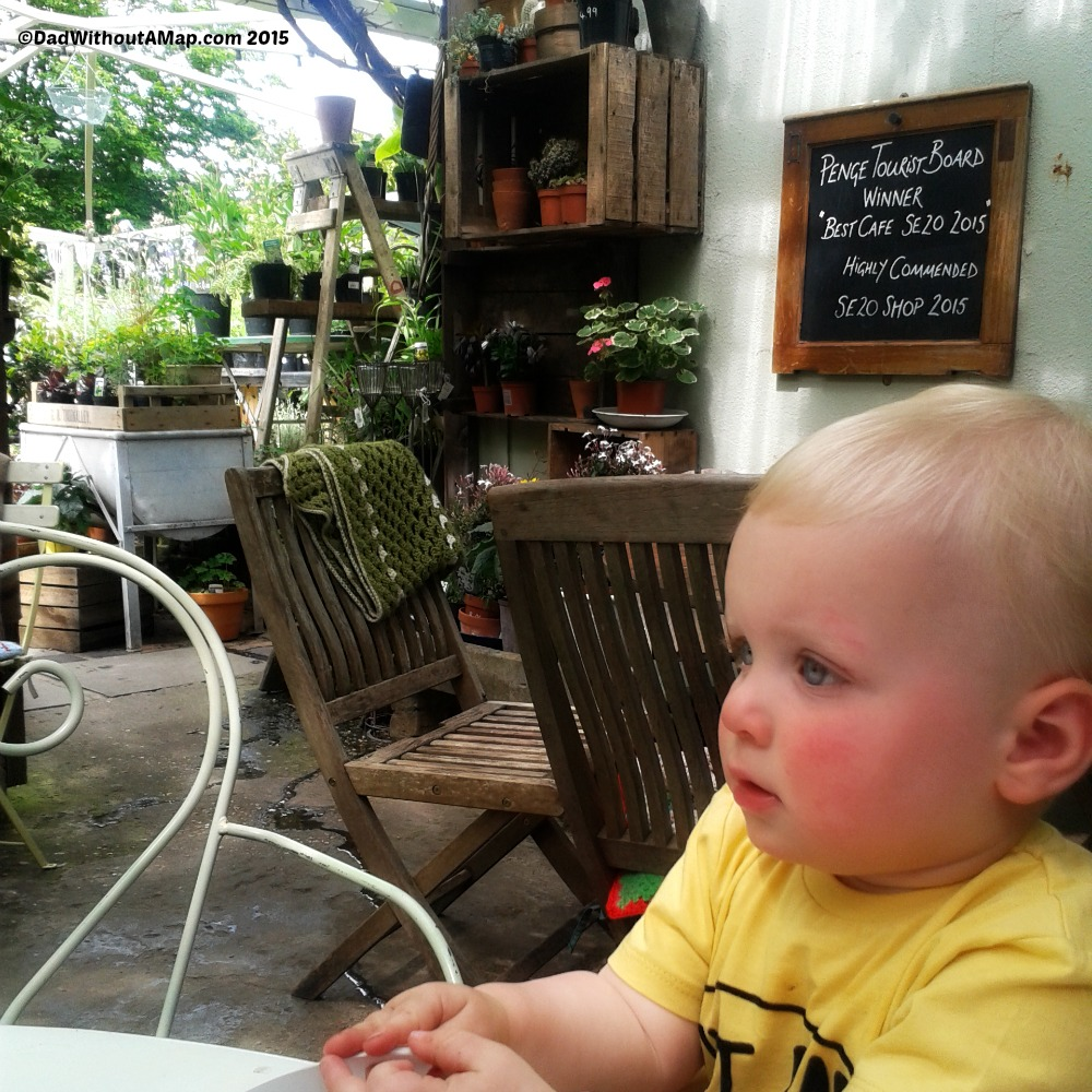 Baby at cafe