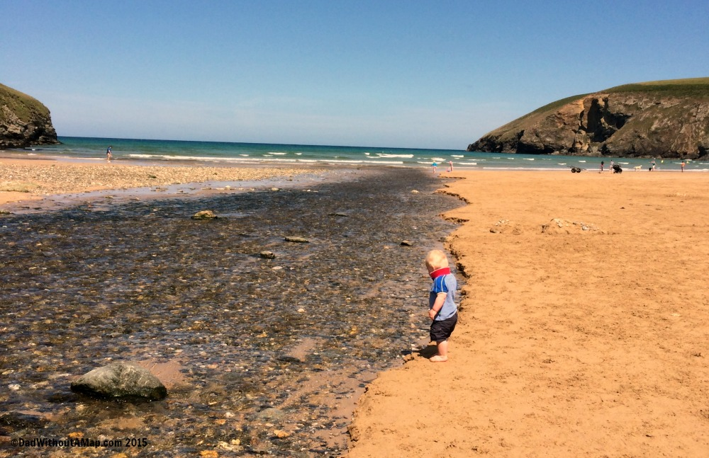 B and the beach stream
