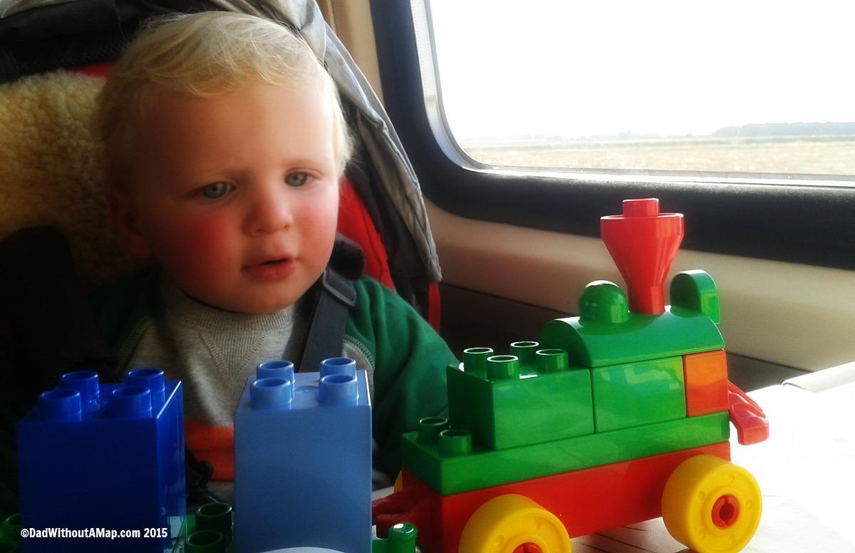 B on train
