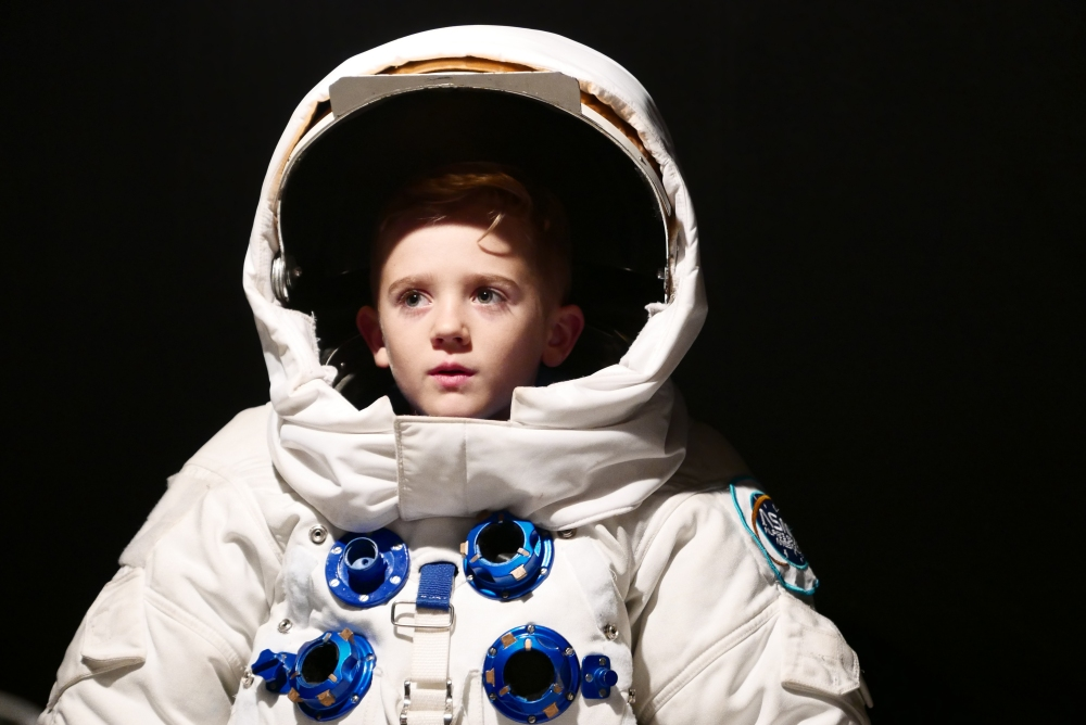 NSPCC Alfie the Astronaut _hero shot. Photography credit Jac Martinez. The child pictured is a model 15.09.15