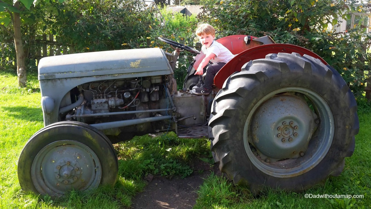 Billy on the tractor at Woolley Grange.jpg